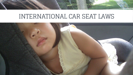 Laws for childrens car seats abroad