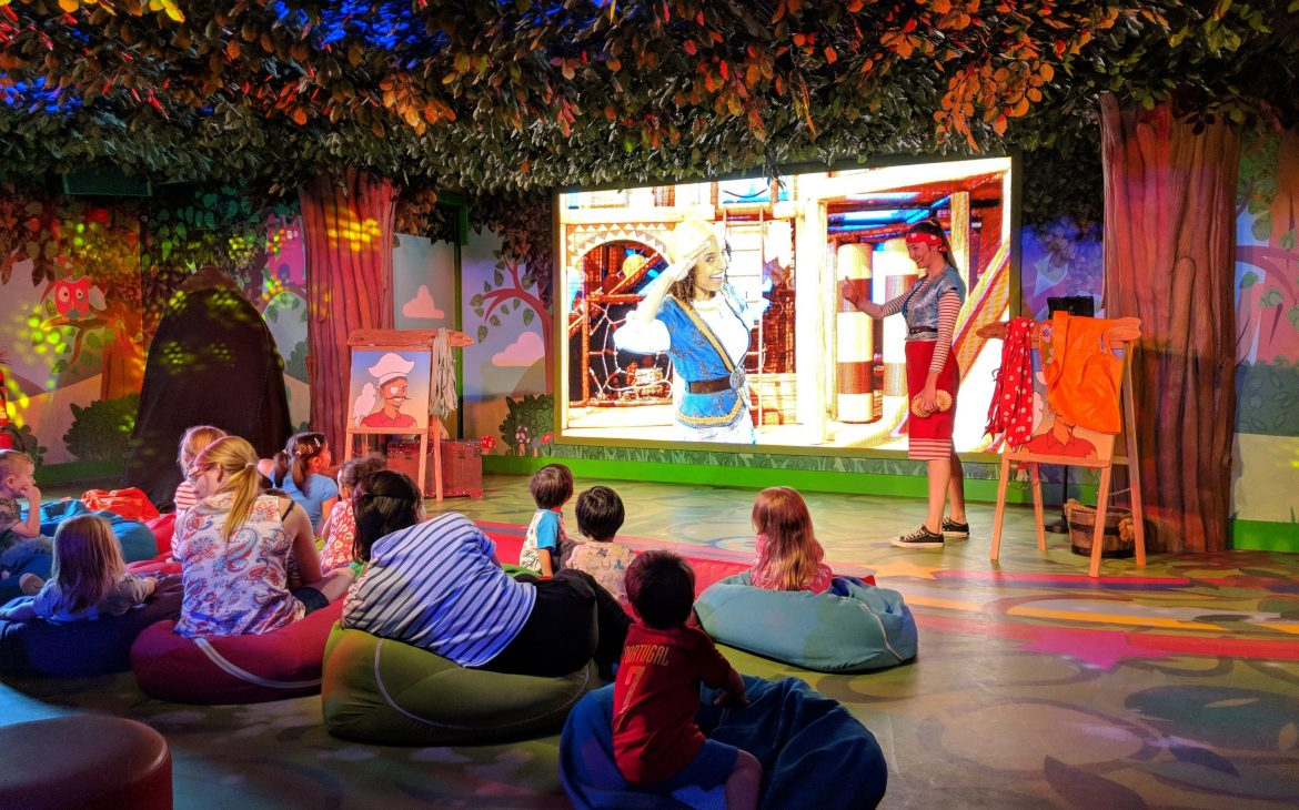 image of children enjoying entertainment at cbeebies hotel