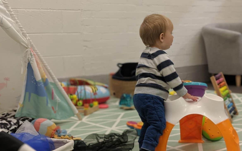baby using baby area of daisy street play spennymoor